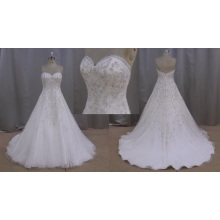 Real Sample Wedding Dress Crystal Bridal Dress