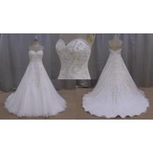 Real de la muestra de la boda vestido vestido de Novia de cristal