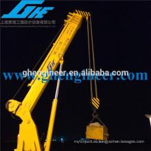 28m 2t de pequeño tamaño brazo plegable hidráulico Telescopic Marine Crane