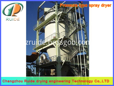 Rust remover spray drying tower