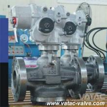 Druckbalance Inverted Lubricated Plug Valve mit pneumatischem Antrieb