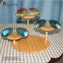 factory Outlets for for Sunglasses Display Rack,Glass Counter Display,Sunglasses Display Stand Manufacturers and Suppliers in China Bamboo Eyewear Round Counter Display Stand export to French Polynesia Exporter