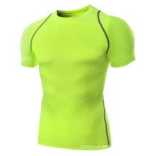 Os homens projetam o desgaste seco da aptidão da compressão da roupa do ajuste do músculo, desgaste do Gym