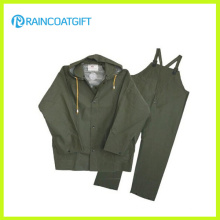PVC/Polyester Rainsuit with Bib Pants (RPP-010A)