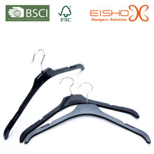 Cheap and Light Black Plastic Top Hanger