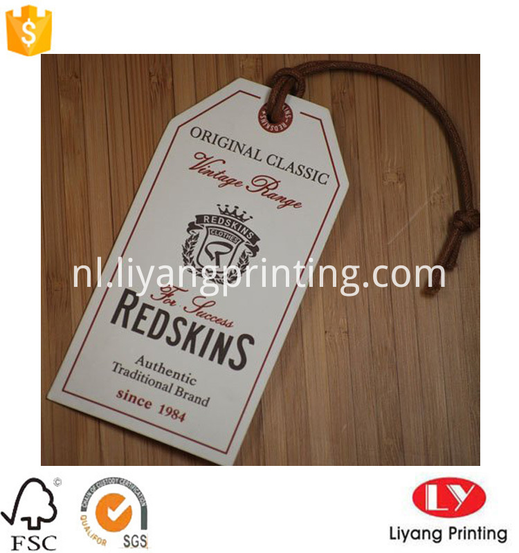 custom paper hang tag for jean
