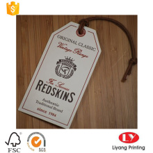 Custom garment paper hang tag printing