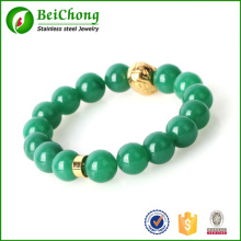 Perlen Armband mit Kristallkugeln in Edelstahl-Schmuck