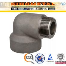 A105 Raccords de tuyaux en acier au carbone fileté 90 D coude