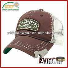 Wholesales Guinness Bottle Opener Baseball Cap with Embroidery patch Infinitely More responsible than Bottle Opener Keyring