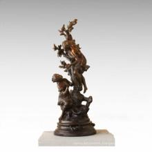 Kids Figure Statue Fruit Tree Children Bronze Sculpture TPE-925