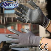 NMSAFETY guantes de seguridad nm 13 calibre de nylon forro guante de trabajo nitrilo guantes de seguridad al por mayor