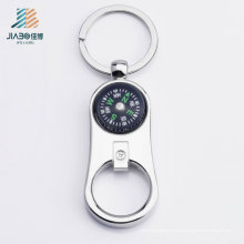 Vente chaude Die-Casting cadeau promotionnel GPS personnalisé ouvre-bouteille en métal avec porte-clés