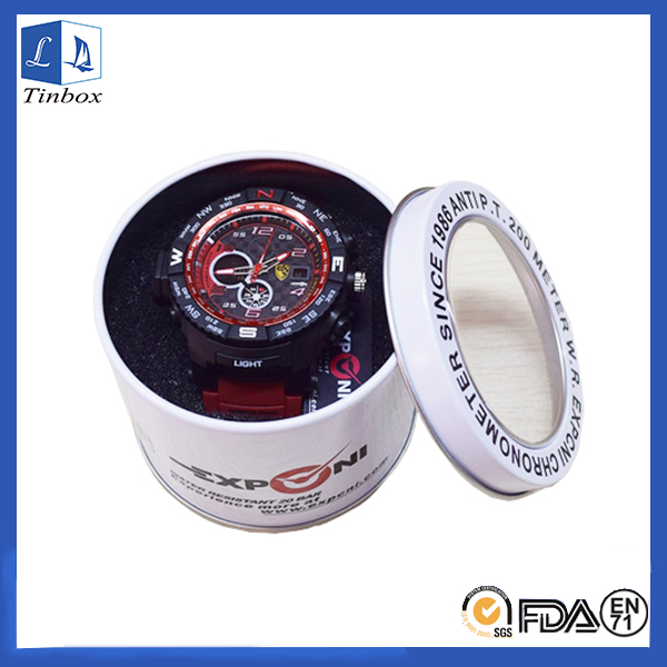 Round Tins With Cler Lids For Watch