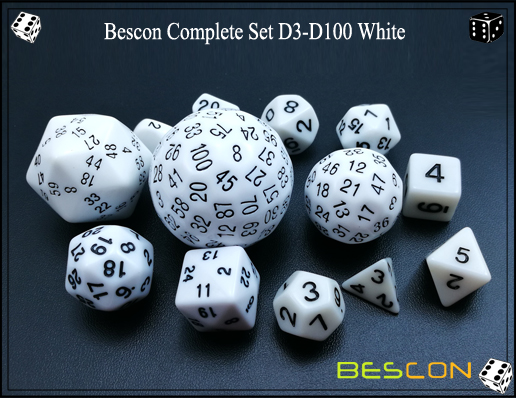 Complete Dice Set D3-D100 (6)