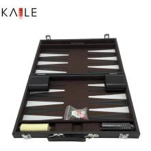 Jeux de Backgammon de 14 pouces avec boîte en cuir