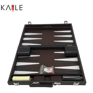 Juegos de backgammon de 14 pulgadas con caja de cuero