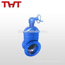 Válvula de porta de esfera de compressão com flange de borracha de diâmetro