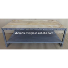 Industrial Coffee Table metal rivets latest design