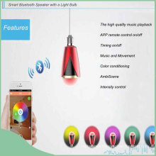 Wireless Smart LED Light Bulb Mini Bluetooth Speaker with APP Control