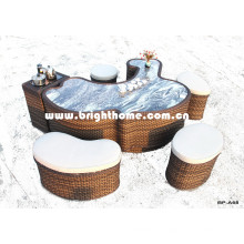 New Design Tea Table PE Rattan Weaving for Outdoor Use Bp-A68A