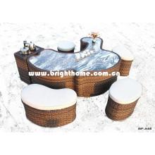 Новый дизайн чайного стола PE Rattan Ткачество для наружного использования Bp-A68A