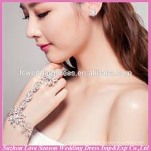 WS0002 bling bridal casamento desgaste pulseira e anel de dedo conjunto