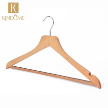 Hot sell printed logo wholesale hangers for cloths wood