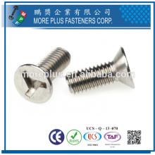 Fabriqué à Taiwan en acier au carbone et en acier inoxydable Triwing Wood Security Screws