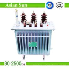 Fabricante de transformadores en baño de aceite de fase tres de 33kV 1000kVA