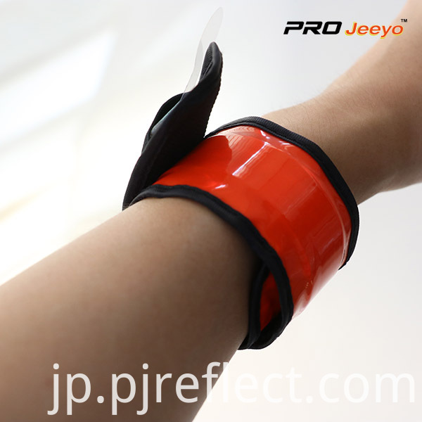 Reflective Safety Fluo Orange Slap Bracelet WB-JG004