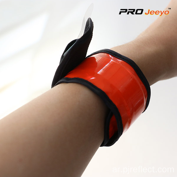 Elastic Safety Fluo Orange PVC Wrist Strap