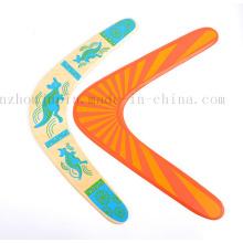 Jouet de boomerang en bois de sport en plein air de logo de bricolage d'OEM