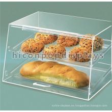 Free Design Food Shop Contador de la parte superior de la pantalla de pan de acrílico claro Retail Bakery Cake Display Case