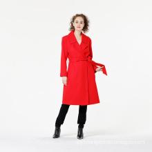 High Quality Women Lapel Outwear Overcoat