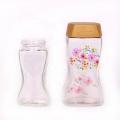 Unique 450ml 220ml glass coffee bottle ground coffee jars with plastic cap