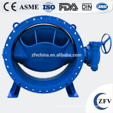 Hot Sale! Double eccentric electric actuator butterfly valve