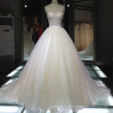 Fancy кружева прозрачный корсаж Минималистский свадебное платье/бальное платье