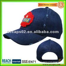 Bordado patch deshilachado gorra de béisbol BC-0102