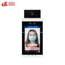 Máquina de medição de temperatura de 8 polegadas e reconhecimento facial