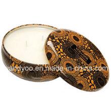 Velas perfumadas naturais da máscara da lata do perfume com três mechas