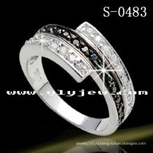 925 штампованное твердое серебро-кольцо (S-0483)