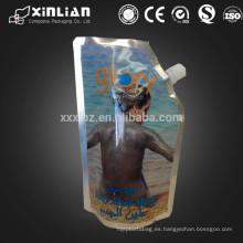Material laminado pico superior cuerpo friegue empaquetado / bady bolsa de máscara de barro