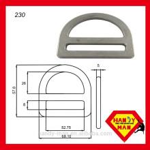 """230 verzinkter Stahl 2 """"Single Slot D-Ring"""