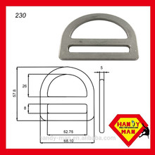 """230 aço galvanizado 2 """"single slot D-ring"""