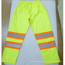 Pantalones de lluvia de alta visibilidad a prueba de agua