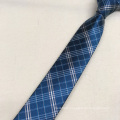 High Visibility Wholesale Private Label Green Check Woven Men's Polyester Tie