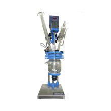 Reactor de vidrio químico 5L / Revestimiento de doble capa de reactor de vidrio para destilación, mezcla y reacción