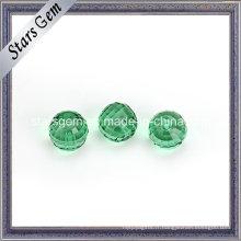 Facettes de couleur émeraude coupe verre rond en cristal