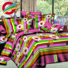 40-150gsm flower printed 3D polyester fabric bed sheet in roll